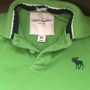 Boys lime green Abercrombie & Fitch polo